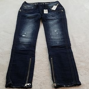 Rock Revival Camille Sz 30 Skinny Zip Moto Jeans